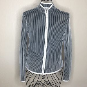 Armani Collezioni semi-sheer zip up cardigan #438